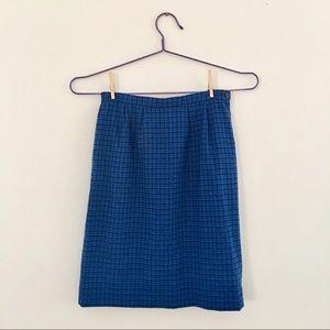 Pendleton Blue Plaid Pencil Skirt w/ Pockets Sz 14